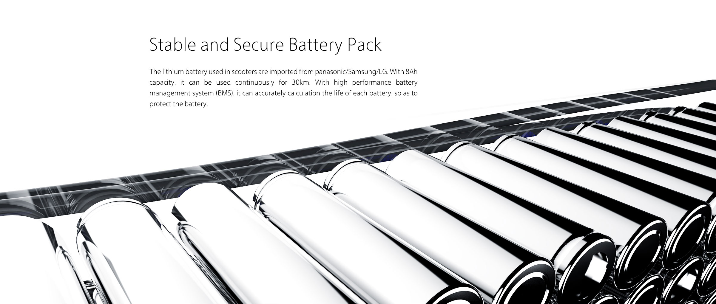stable and secure battery pack